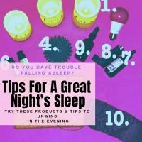 tips for sleep