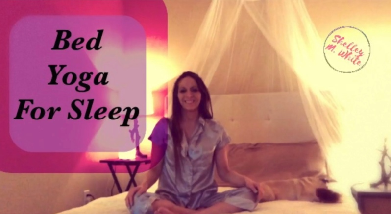 Bed yoga for sleep