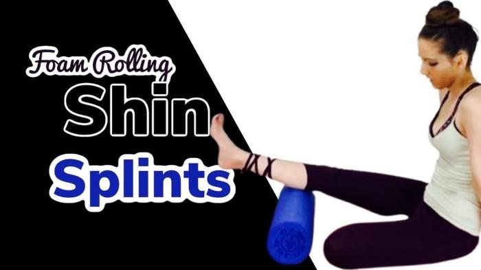 shin splint foam rolling youtube tutorial, shelley m white yoga